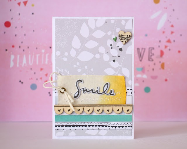 Smile card by natalie elphinstone original