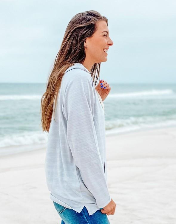 121777 simple beach happy french terry hoodie oatmeal women slider 3 original