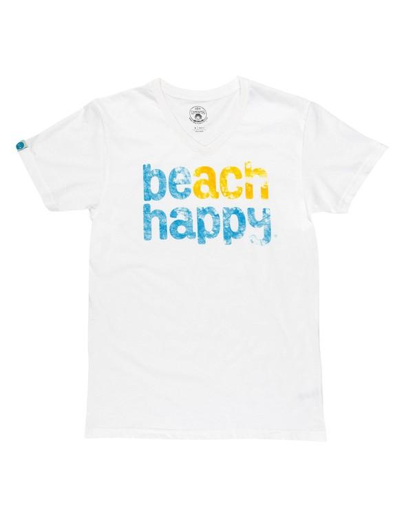 108494 beach happy short sleeve v neck white women slider 2 original