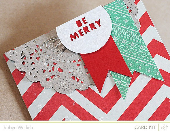 Rwerlich be merry card closeup