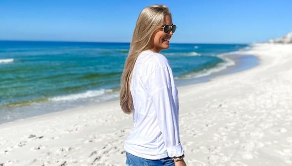 129166  beachy words long sleeve tee women white slider4 original