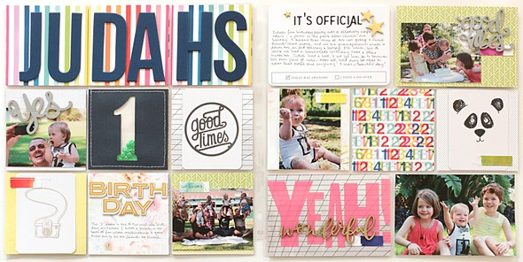 Judahs birthday spread by natalie elphinstone original