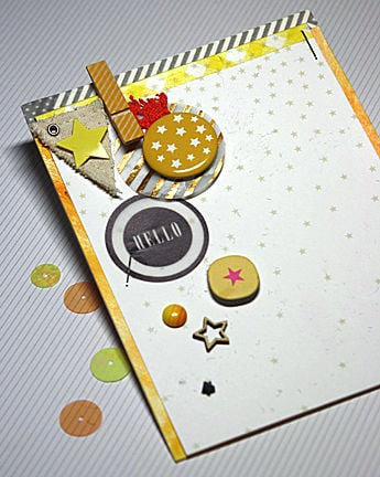 Star hello card