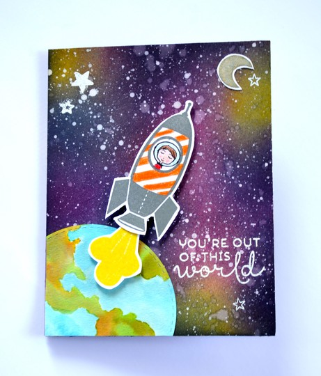 Out of this world card original