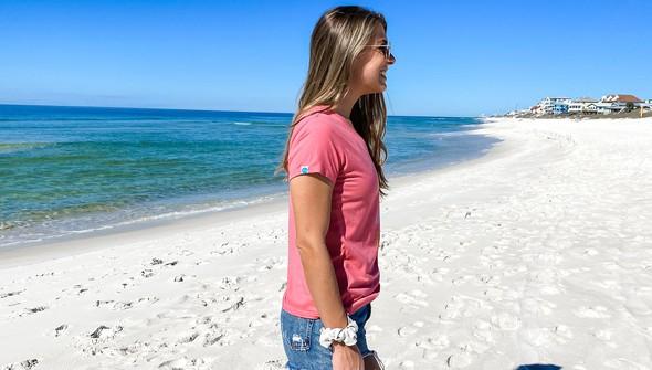 137610 beach trip essentials v neck tee women melon slider4 original