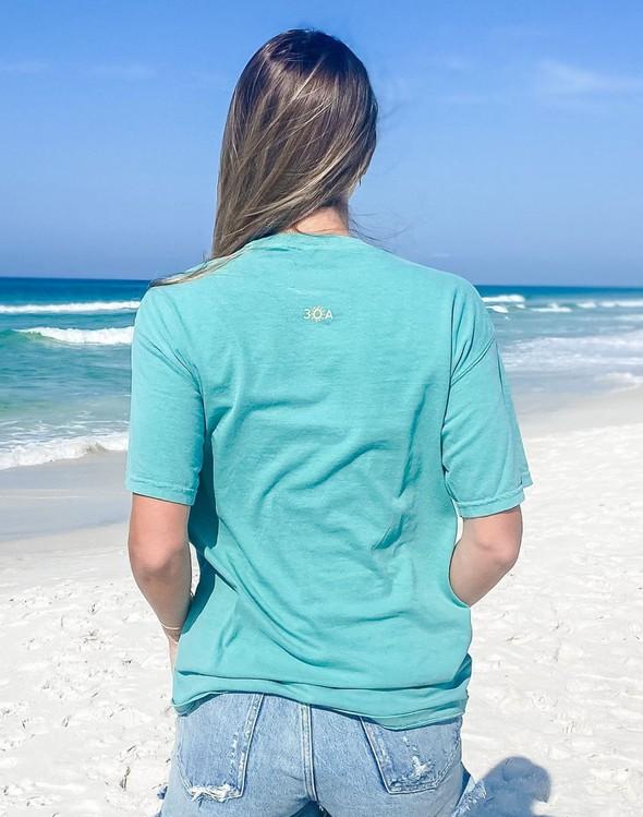 154075 simple beach happy comfort colors short sleeve tee seafoam women slider 4 original