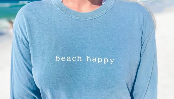154129 simple beach happy comfort colors long sleeve tee women ice blue slider2 %25281%2529 original