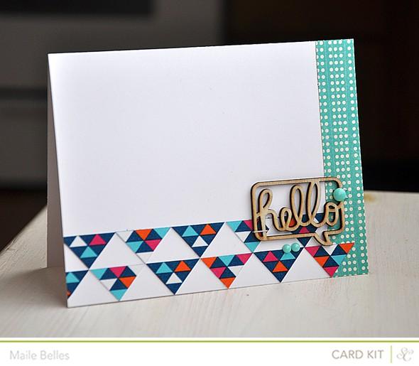 Veneer hello card