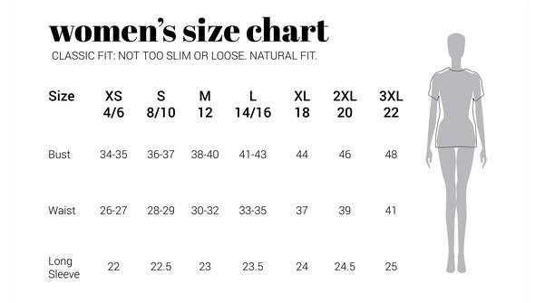 30a sizechart women naturalfit original
