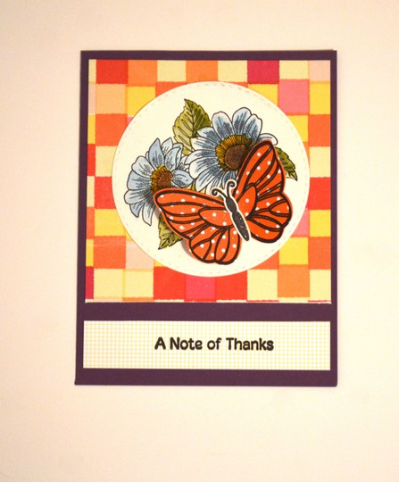 Butterfly thanks card original