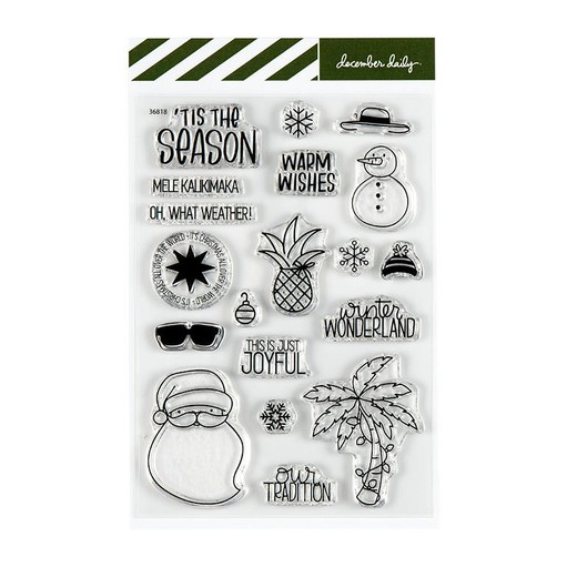 Picture of December Daily® Warm Weather Christmas by Brandi Kincaid 4x6 Stamp Set