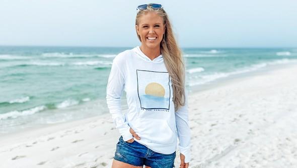 134425 be the sunshine pullover hoodie women white slider1 original
