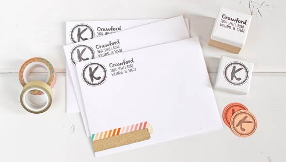 Address label monogram original