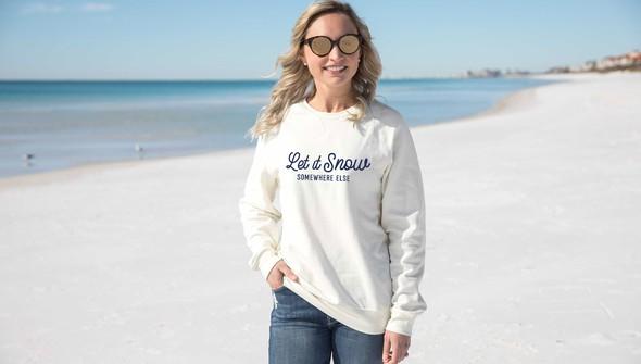 134709 let it snow crewneck sweatshirt women cream slider1 original