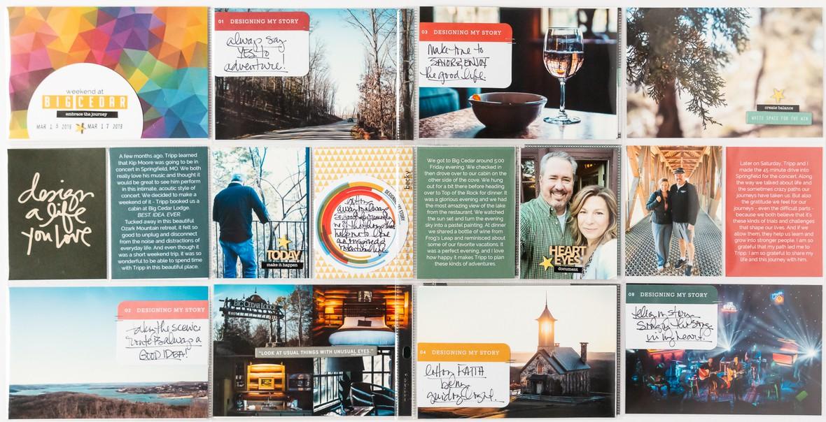 Kishmael  design story kit project life full layout original