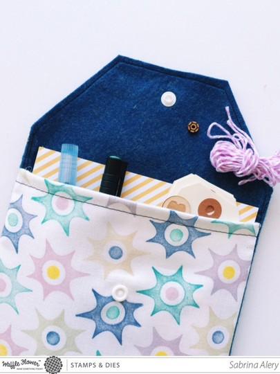 Travel craft pouch waffle flower crafts sabrina alery 3
