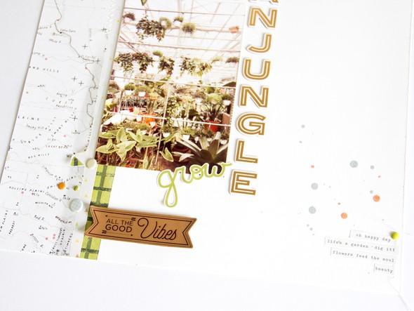Urbanjungle scatteredconfetti scrapbooking layout gossamerblue pinkpaislee 5 original