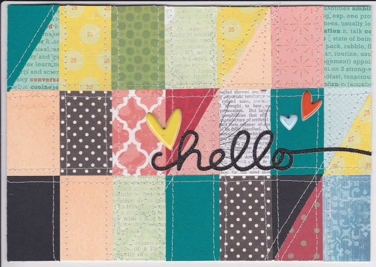 Hello quilted card