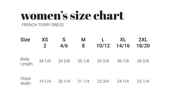 30a sizecharts frenchterrydress original