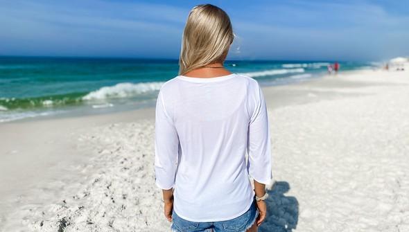 152480 beach love by callie danielle v neck bell sleeve women white slider6 original