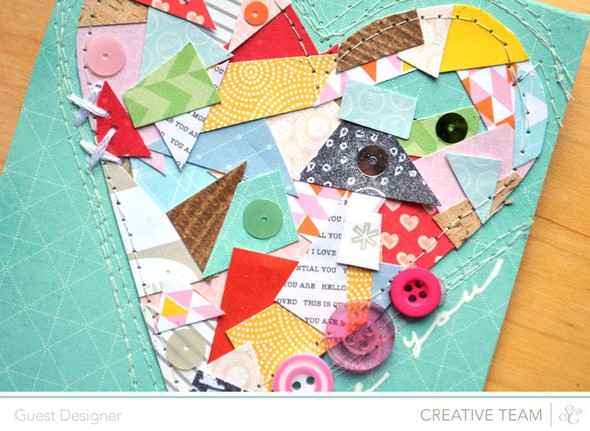 Love you card detail by paige evans