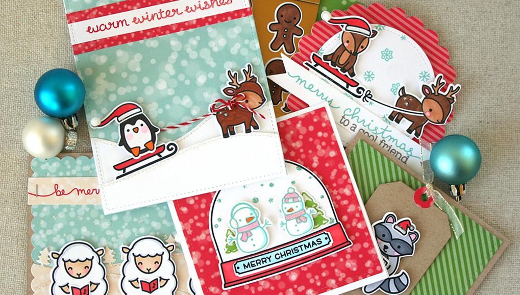 Festive holiday cards lawn fawncrop original