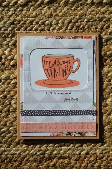 Tea time card original