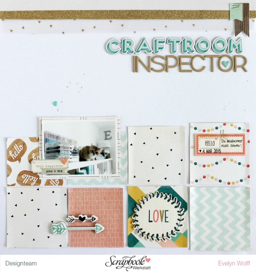 Craftroom inspector scrapbooking layout original