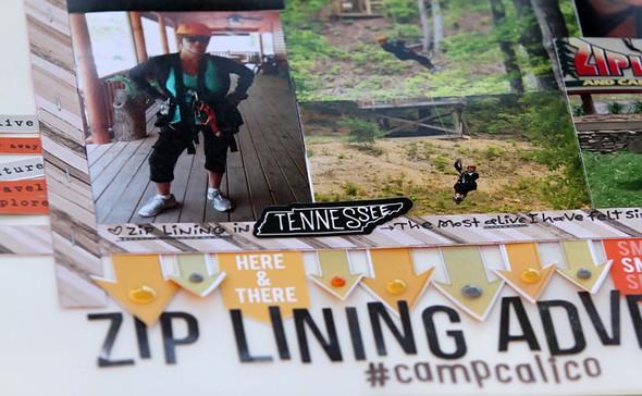 Zip lining adventure close up 1