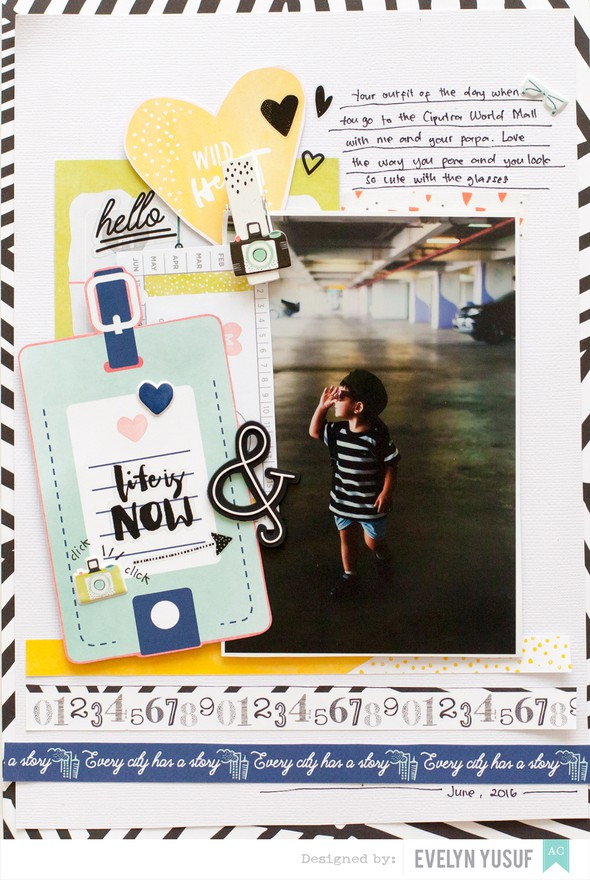 Life is now my son american crafts saturday dear lizzy full layout by evelynpy  original