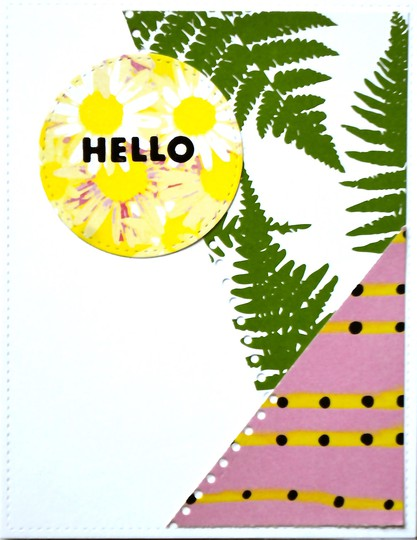 Pop art hello card original