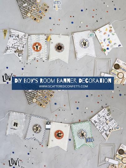 Yourock banner homedecor scatteredconfetti scrapbookcom pinkfreshstudio sizzix bigshot cover original