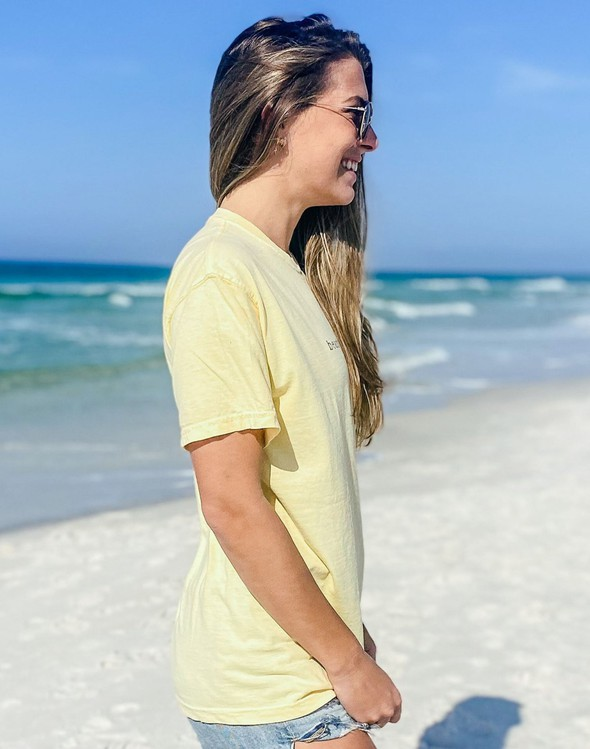 154045 simple beach happy comfort colors short sleeve tee butter women slider 3 original
