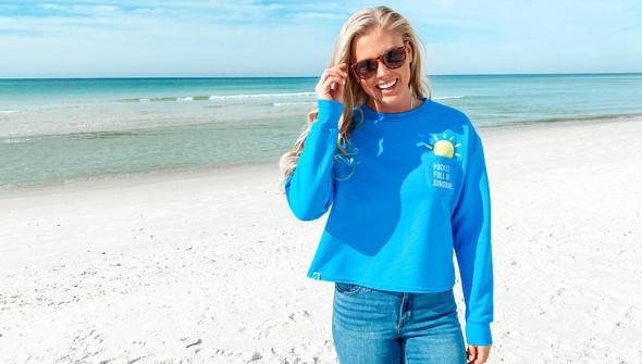 129078 pocket full of sunshine pocket slouch sweatshirt women 30a blue slider2 original