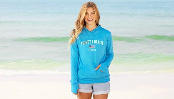126390 thirtya beach usa pullover hoodie  women  30a blue slider1 original