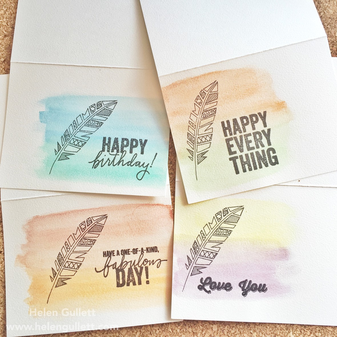Hmg watercolor card set bpc original