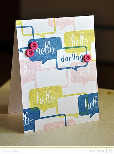 Hello darling card (card kit only)