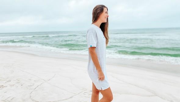 121977 simple beach happy french terry dress women oatmeal slider4 original