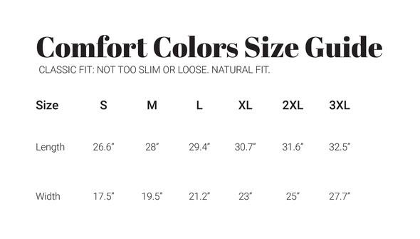 30a sizecharts comfortcolors shortsleeve original