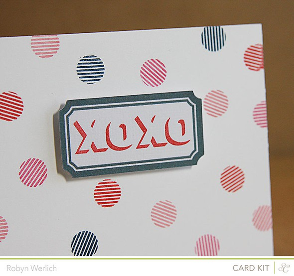Xoxo card closeup