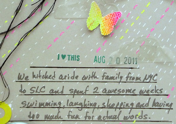Family vacation journaling neon