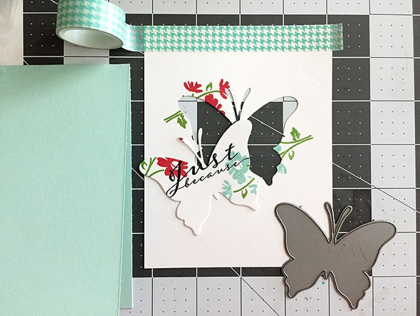 Butterfly   after die cutting original
