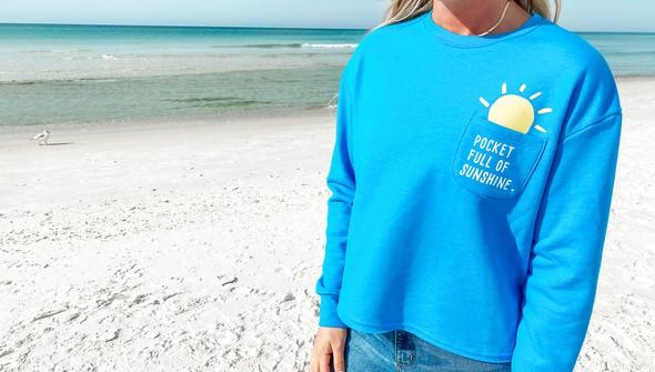 129078 pocket full of sunshine pocket slouch sweatshirt women 30a blue slider3 original