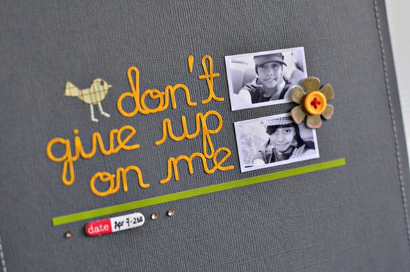 Don't give up on me closeup