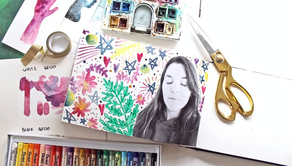 Watercoloring in your art journal gallery3 original