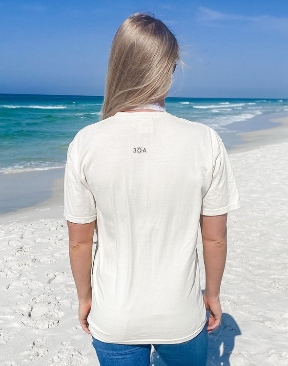 154051 simple beach happy comfort colors short sleeve tee ivory women slider 4 original