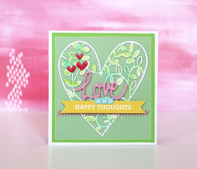 Heart card by natalie elphinstone original