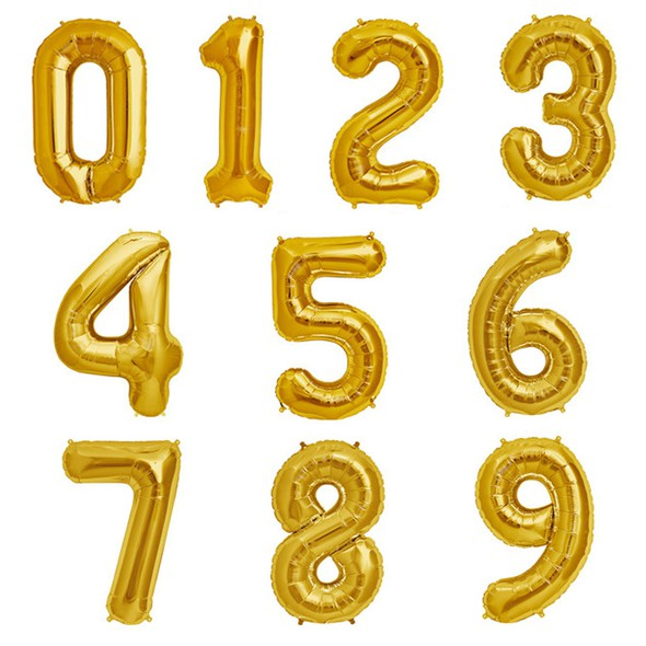 Mylar gold number balloons original