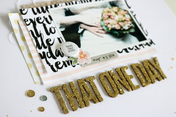 That one day scrapbooking layout 1 original