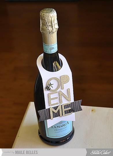 Open me wine bottle tag (scrapbook kit  add on 1 4)